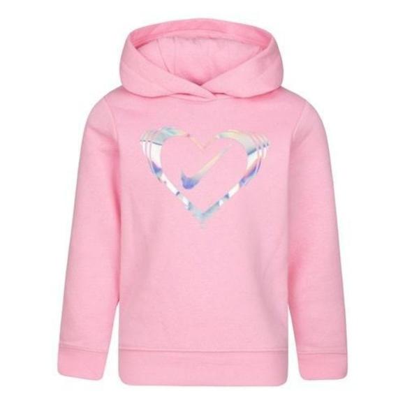 shop exquisite style huge sale Nike Shirts & Tops | Girls Pink Heart Hooded Sweatshirt Size 4 ...